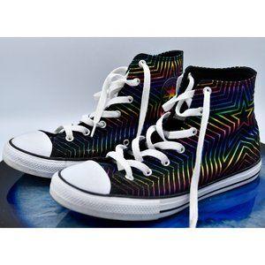 ❤HP Converse Metallic Rainbow Star High Top
